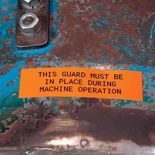 Картридж M21-500-595-OR (аналог M21-500-580-OR) для принтера BMP21 c самоклеящейся этикеткой из оранжевого винила B-595