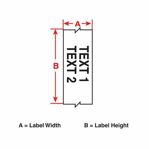 Картридж M21-500-595-WT (аналог M21-500-580-WT) для принтера BMP21 c самоклеящейся этикеткой из белого винила B-595