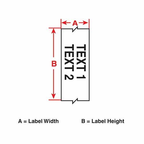 Картридж M21-375-595-YL (аналог M21-375-580-YL) для принтера BMP21 c самоклеящейся этикеткой из жёлтого винила B-595
