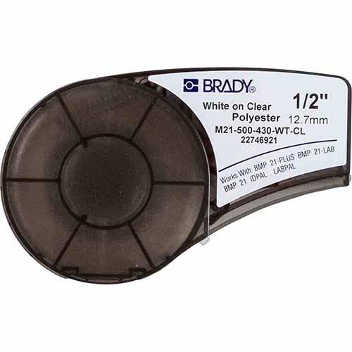 Картридж M21-500-430-WT-CL для принтера BMP21 c самоклеящейся этикеткой из прозрачного глянцевого полиэстера B-430