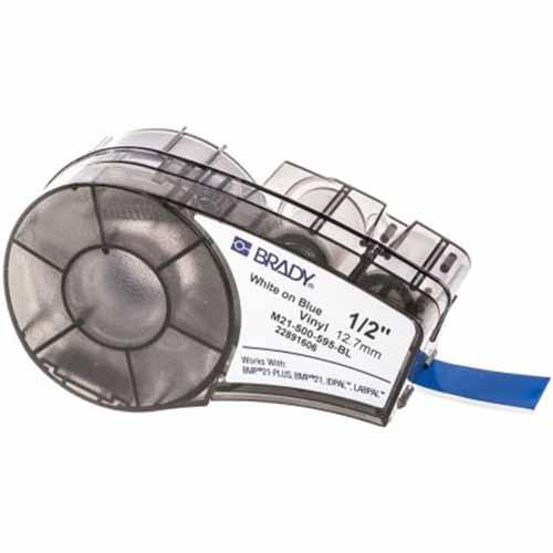 Картридж M21-500-595-BL (аналог M21-500-580-BL) для принтера BMP21 c самоклеящейся этикеткой из синего винила B-595