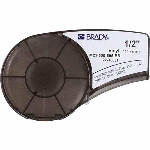 Картридж M21-500-595-BR для принтера BMP21 c самоклеящейся этикеткой из коричневого винила B-595