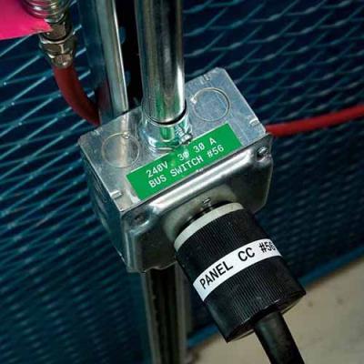 Картридж M21-375-595-GN (аналог M21-375-580-GN) для принтера BMP21 c самоклеящейся этикеткой из зелёного винила B-595