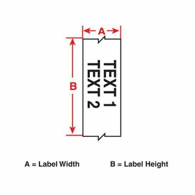 Картридж M21-500-595-YL (аналог M21-500-580-YL) для принтера BMP21 c самоклеящейся этикеткой из жёлтого винила B-595