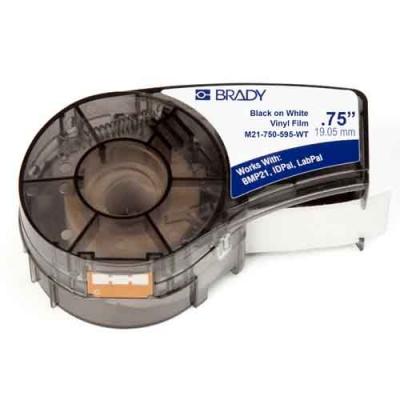 Картридж M21-750-595-WT (аналог M21-750-580-WT) для принтера BMP21 c самоклеящейся этикеткой из белого винила B-595